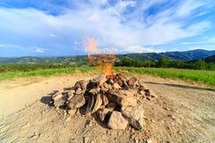Monte Busca, Forlì, Italia El volcán más pequeño del mundo Foto de archivo libre de regalías