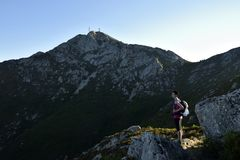 Monte Capanne Hiking, l'Île d'Elbe, Toscane, Italie Photo stock