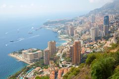 Monte Carlo city view with mist in a sunny morning in Monaco. Monte Carlo city view with mist in a sunny summer morning in Monaco stock photo