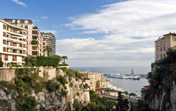 Monte Carlo. Pier view from the top of the main railway station Royalty Free Stock Images