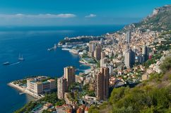 Monte Carlo. View at Monte Carlo, Monaco. At Côte d'Azur (French Riviera Royalty Free Stock Photos