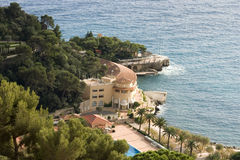 Monte Carlo. View of a Monte Carlo hotel from the mountains Royalty Free Stock Photography