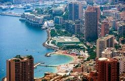 Monte Carlo Aerial View Fotos de archivo libres de regalías