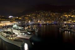 Monte Carlo alla notte fotografia stock