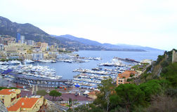 Monte Carlo bay scenic view Stock Images