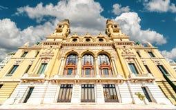 Monte-Carlo Casino e teatro da ópera fotos de stock royalty free
