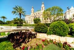 Monte Carlo Casino e teatro dell'opera Fotografie Stock Libere da Diritti