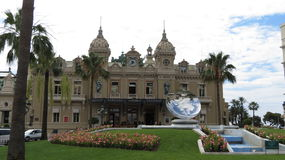 Monte Carlo Casino. The front of the Monte Carlo Casino in the the city state of Monaco Royalty Free Stock Image