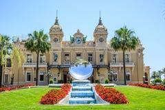 Monte Carlo Casino fyrkant royaltyfri fotografi