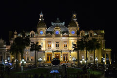 Monaco Casino by Night (Monte Carlo Casino) Stock Images