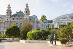 Monte Carlo Casino och trädgårdar, Monaco Royaltyfri Fotografi