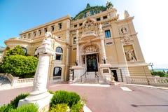 Monte Carlo Casino y teatro de la ópera Foto de archivo libre de regalías