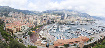 Monte carlo city panorama monaco french riviera Stock Photography