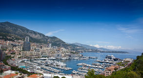 Monte Carlo city panorama. Stock Photo