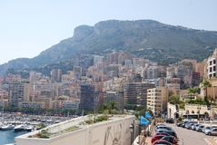Monte-Carlo, geographical feature, town, city, coast. Monte-Carlo is geographical feature, coast and vacation. That marvel has town, human settlement and royalty free stock images