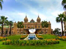 Monte Carlo Grand Casino en Monte Carlo, Mónaco imagen de archivo