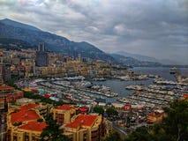 Monte Carlo Hafen stockfotos