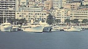 Monte Carlo Hafen stock footage