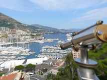 Monte Carlo harbor Stock Photography