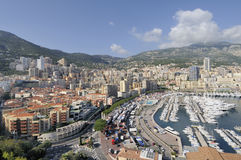 Monte Carlo Harbor Foto de archivo libre de regalías