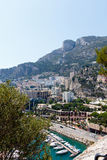 Monte Carlo harbor with cityscape Royalty Free Stock Image