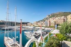 Monte Carlo Harbor en Mónaco Fotografía de archivo libre de regalías
