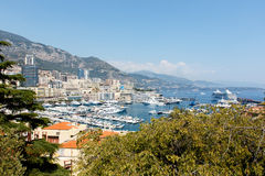 Monte Carlo Harbor, Monaco Royalty Free Stock Images