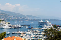 Monte Carlo Harbor, Monaco Stock Photo