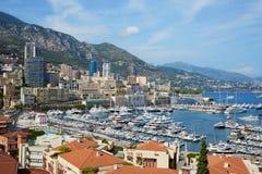 Monte Carlo harbor in a summer sunny day, Monaco Royalty Free Stock Photo