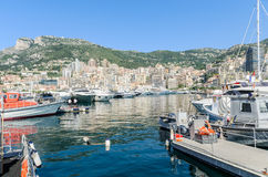 Monte Carlo harbour and city panorama in Monaco Royalty Free Stock Photography