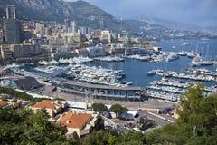 Monte Carlo Harbour i Monaco Royaltyfria Bilder