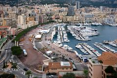 Monte Carlo Harbour, Monaco Royalty Free Stock Photography