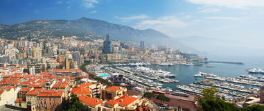 Monte Carlo Harbour in Monaco Royalty Free Stock Images