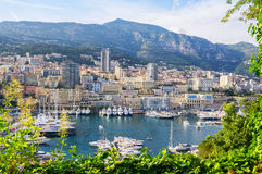 Monte Carlo harbour. Principality of Monaco Stock Photos