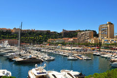 Monte Carlo harbour Royalty Free Stock Images