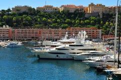 Monte Carlo harbour Stock Image