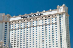 Monte Carlo Hotel op de Strook van Las Vegas in Nevada royalty-vrije stock fotografie