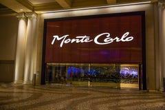 Monte, Carlo hotelu wejście - Obraz Stock