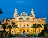 MONTE CARLO - JULI 4: Monte Carlo-casino in Monaco Stock Afbeelding
