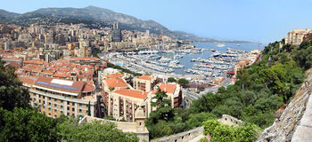 Monte Carlo large panorama Stock Photography