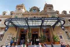 Monte Carlo, Mónaco, 25 09 2008: Casino Monte Carlo, visión inferior Fotografía de archivo libre de regalías