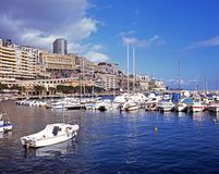 Monte Carlo marina and waterfront. Royalty Free Stock Images