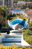 Monte Carlo. Mirror and fountain Stock Photography