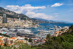 MONTE CARLO, MONACO - APRIL 19 ; An assortment of boats and yach Stock Photos