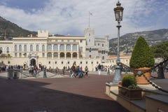 Quare of Grimaldi Palace in Monaco, Monte Carlo royalty free stock image
