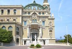 Monte-Carlo, Monaco – August 3, 2013: The Opera de Monte-Carlo, western facade. Princes Entrance, architect Charles Garnier stock images