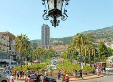 Monte-Carlo, Monaco – August 3, 2013: square near the opera house and casino. Monte-Carlo, Monaco – August 3, 2013: in the park near the opera stock image