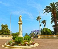 Monte-Carlo, Monaco – August 3, 2013: The statue Jules Emile Frederic Massenet. A famous French composer stock photo