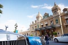 Monte-Carlo, Monaco, Casino Monte-Carlo, 25.09.2008: Casino Monte-Carlo. View of the casino Monte-Carlo through the of a new Rolls Royce, casino Royal Stock Images