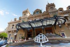 Monte-Carlo, Monaco, Casino Monte-Carlo, 25.09.2008. View of the casino Monte-Carlo through the of a MAYBACH, casino Royal Stock Photography